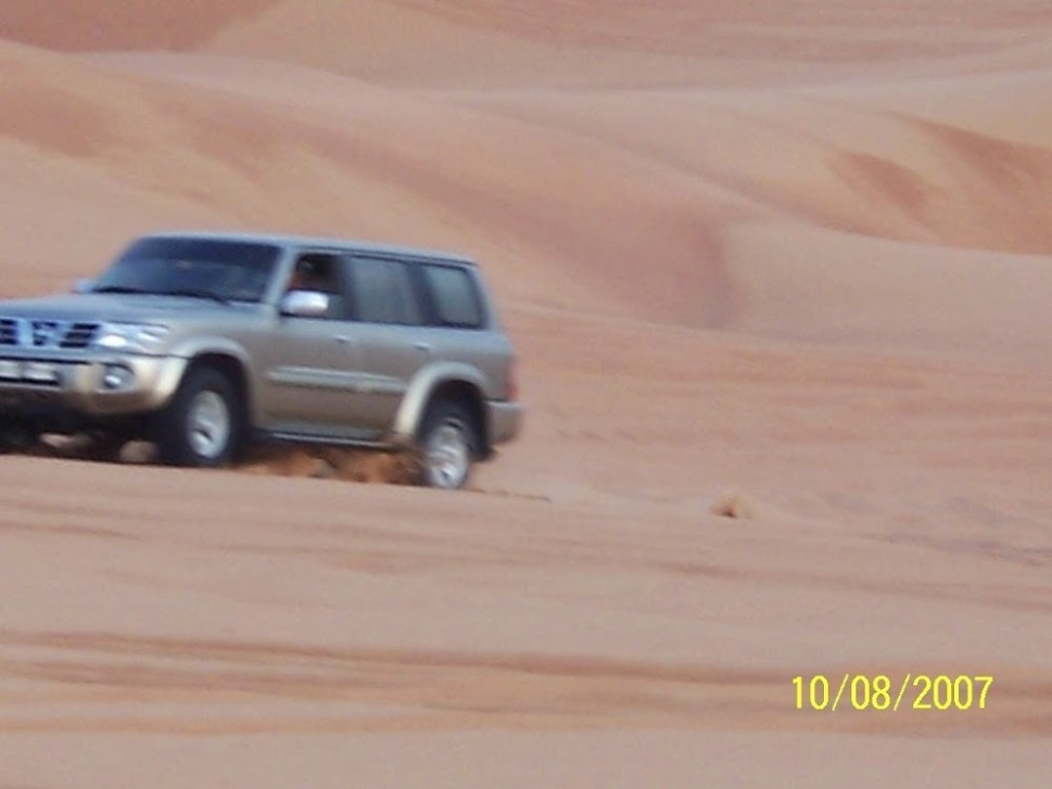 A vehicle on the desert sands