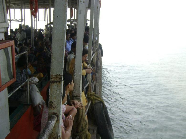 On the boat to cross Muriganga
