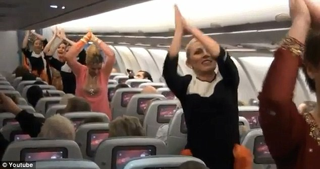 passengers-aboard-a-finnair-flight-from-helsinki-to-new-delhi-were-pleasantly-surprised-when-the-aircraft-staff-treated-them-with-a-bollywood-style-dance-to-celebrate-indias-63rd-republic-day