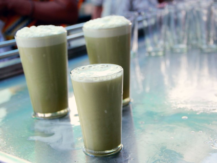 Glasses of sugarcane juice