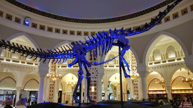 DubaiDino: The Jurassic era meets the future in Dubai Mall's Souk Dome.