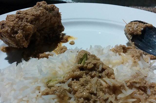 Murgi Posto with rice