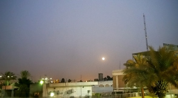 Strawberry Moon as seen on Baghdad sky