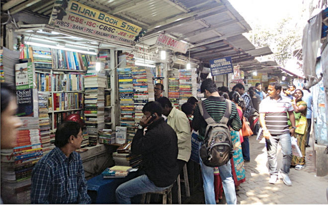 Bookstalls at College Street in Kolkata