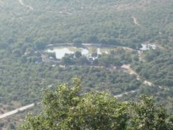 View of Alha pond from the Sharda Devi temple