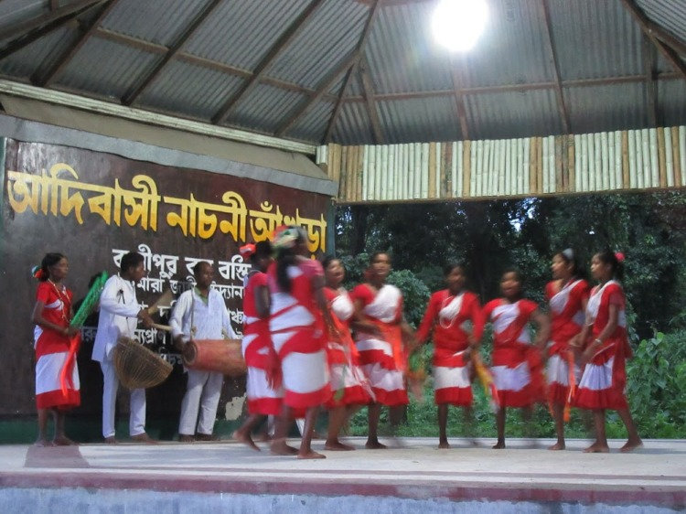 Tribal dance at Jaldapara