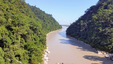 Teesta river - view from the bridge