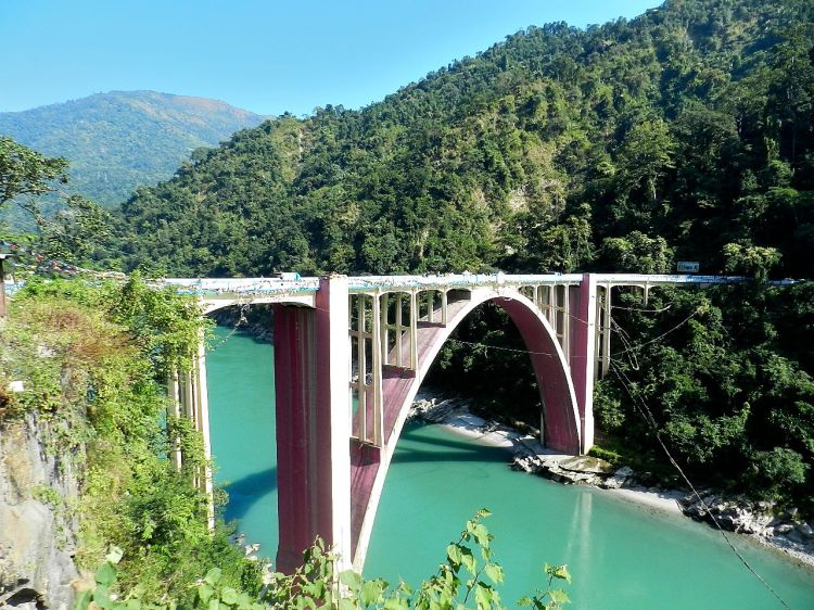 Coronation bridge over river Teesta