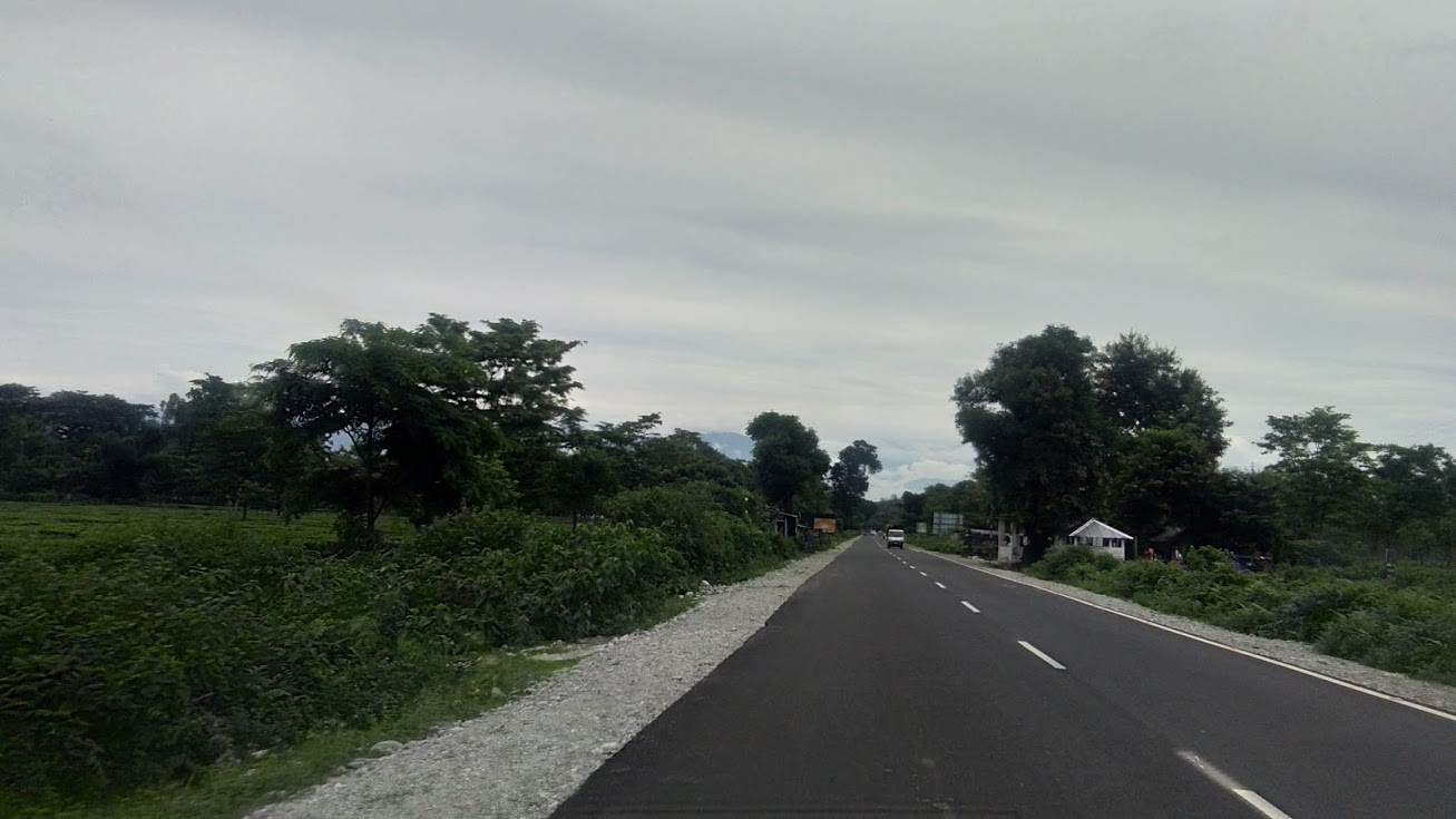 Driving to Jaldapara from Lataguri, West Bengal