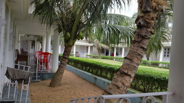 The inside premises of Hotel Moon, Purba Medinipur district, West Bengal, India