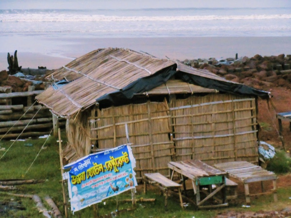 A shack on the beach just across our resort in Chandpur, Purba Medinipur district, West Bengal, India