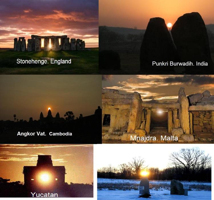 Megalith sites across the world