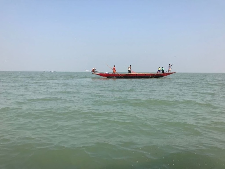 Fishermen in the sea for catching fish