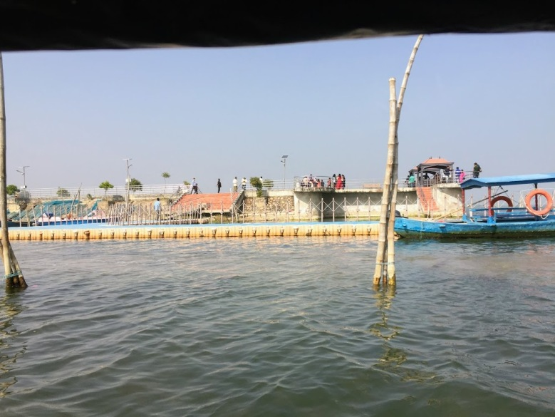 Jetty to ride the boat for cruising on Chilka Lake