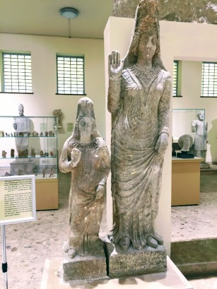 A statue of a young woman (Sami Bint Dhu Shafri) set up by her husband, wearing a uniform similar to her mother princess Dhu Shafri, found in the fifth temple in Hatra (312-139 BCE).