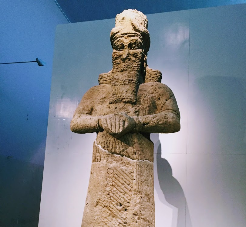 A gigantic limestone statue of Nabu, god of knowledge and wisdom, found in one of gates of the Nebu temple dated to the 8th century BCE.