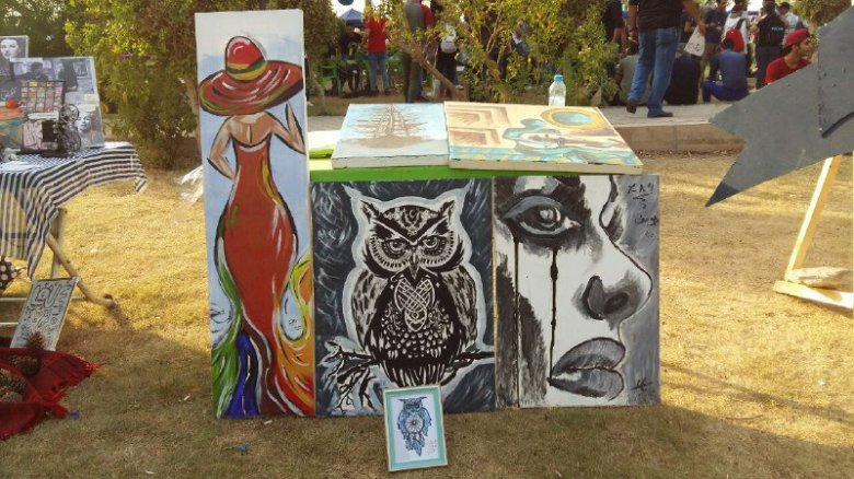 art in peace day in baghdad