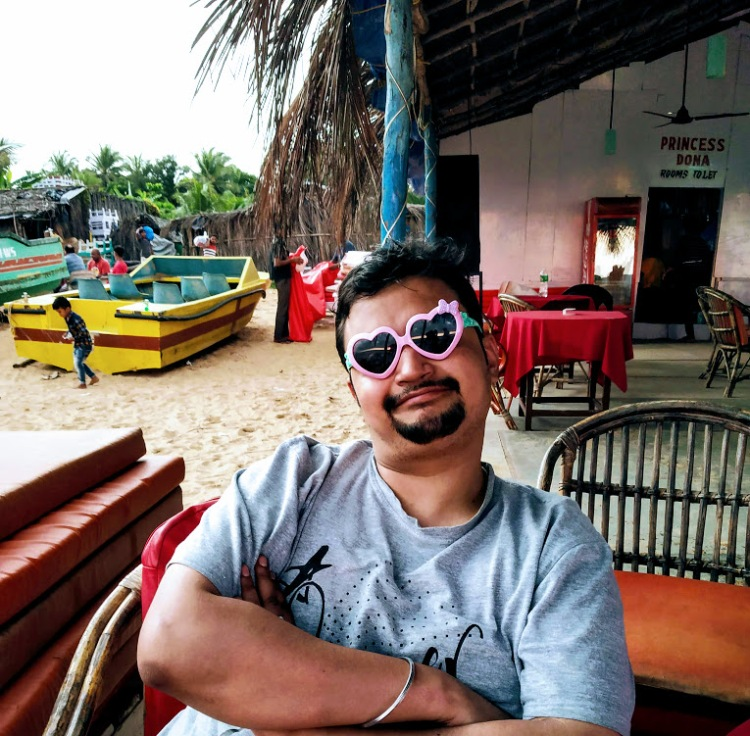Chilling at a beach shack in Calangute beach