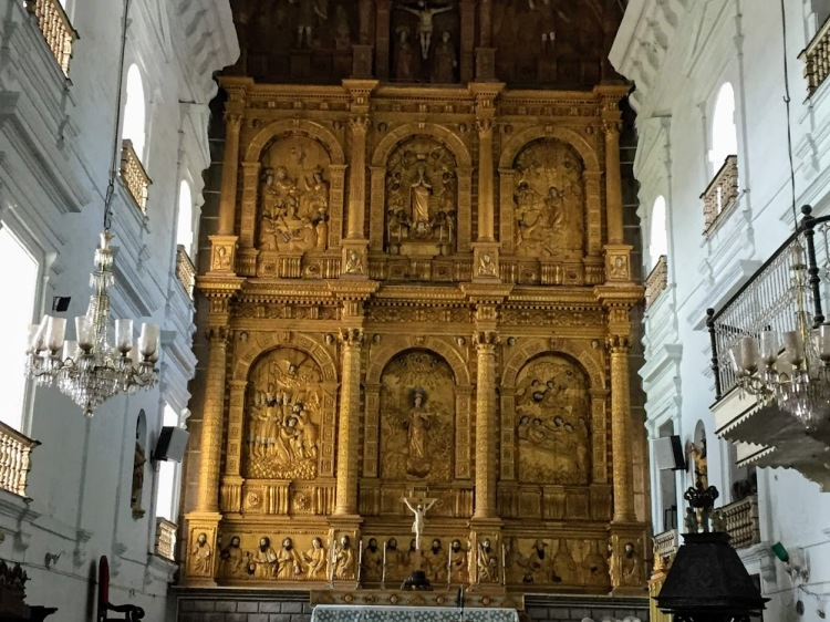 Main altar at Se Cathedral, Goa