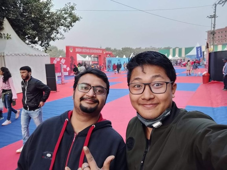 With my friend Akum in Delhi Comic Con