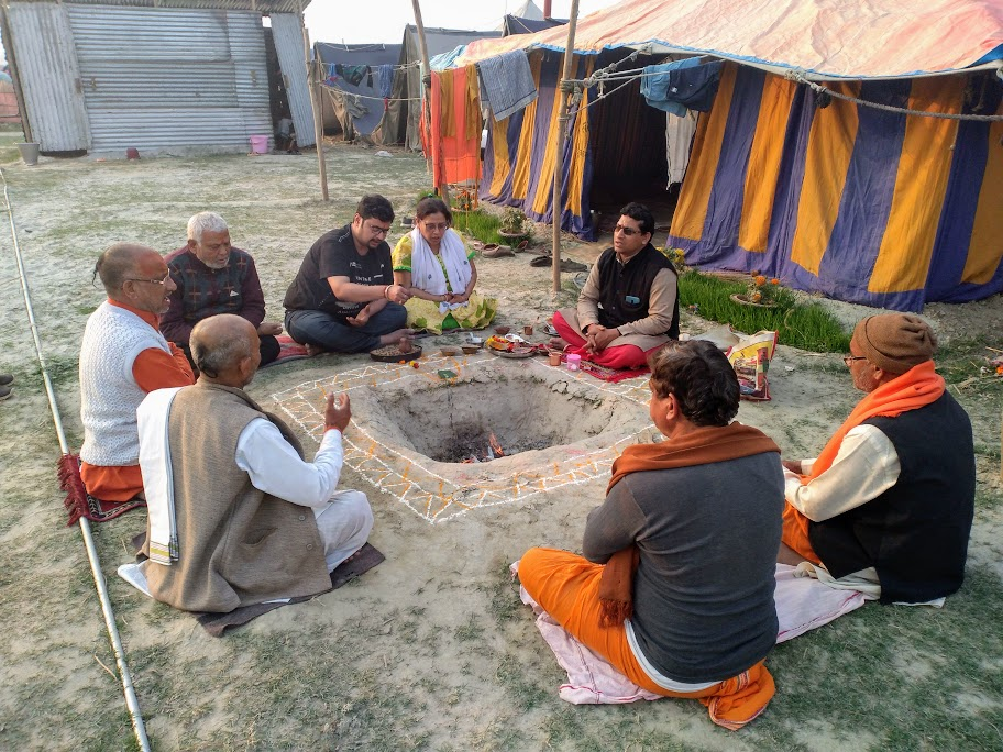 Havan after Kumbh snan