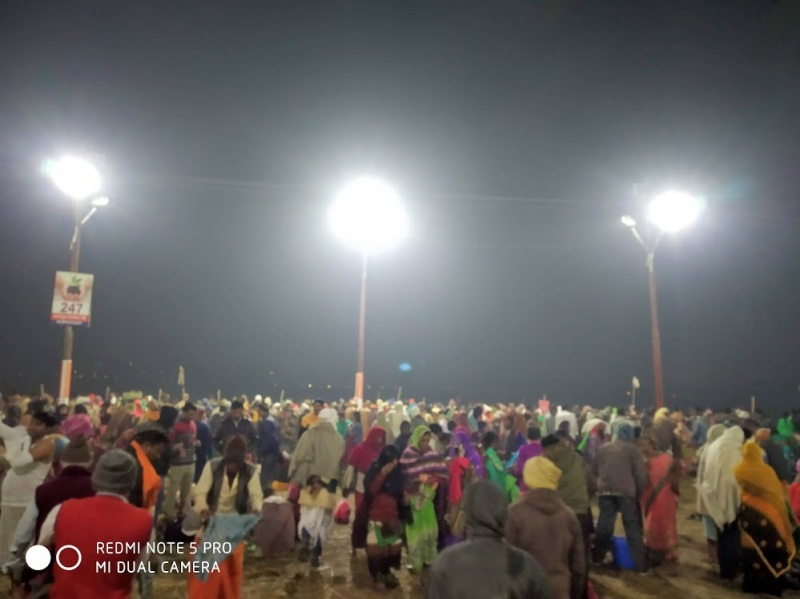 Devotees have come in millions to take a holy dip on the occasion of Mauni Amavasya